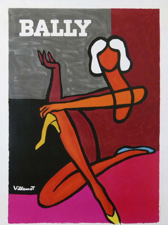 Bally Pink Villemot Original Vintage Poster Letitia Morris Gallery