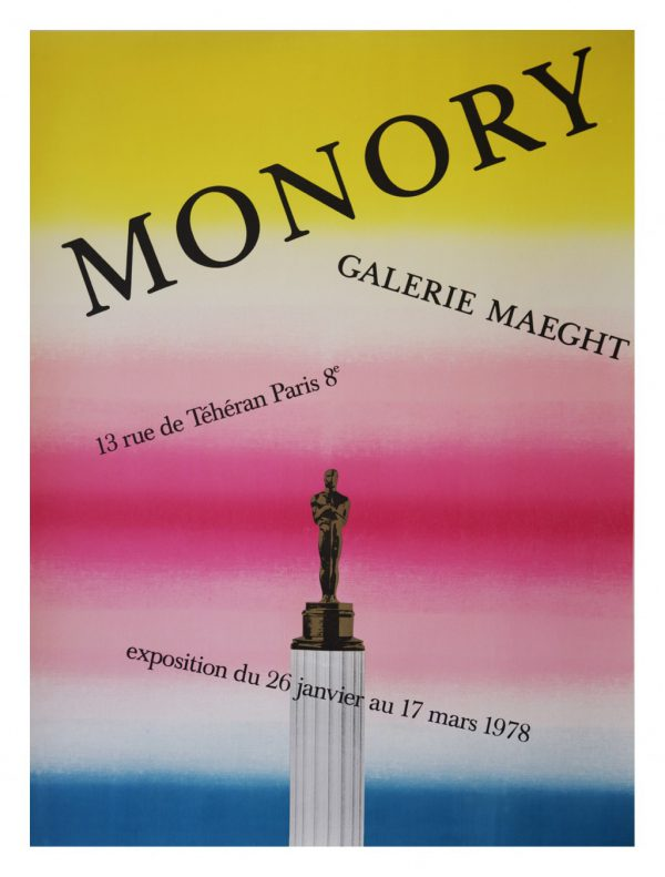 Monory Galerie Maeght Original Vintage Poster