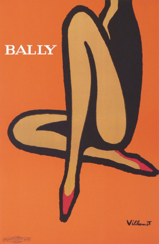 Original Vintage Poster BALLY ORANGE Letitia Morris Gallery