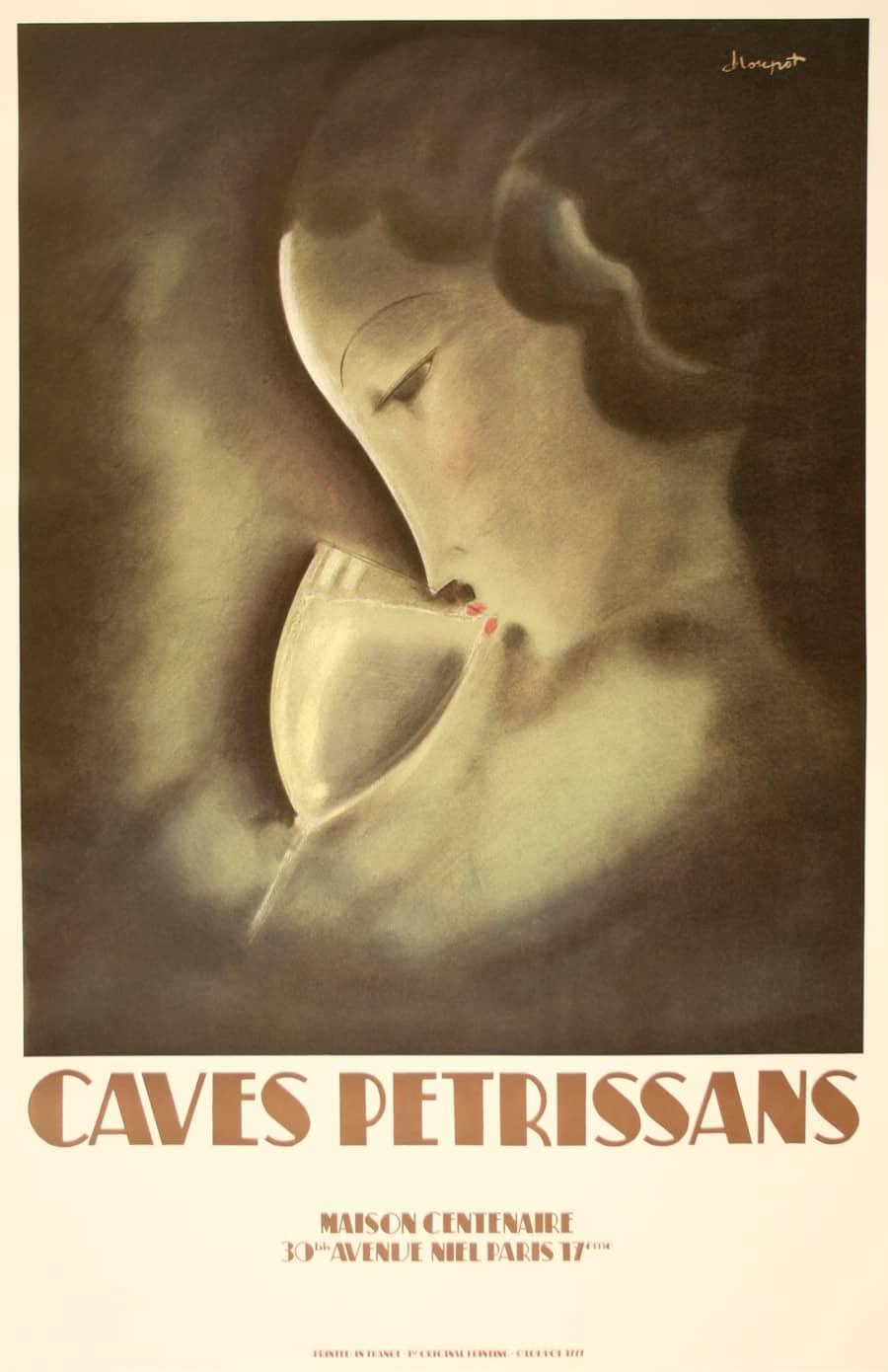 Caves Petrissans Maison Centenaire Original Vintage Poster