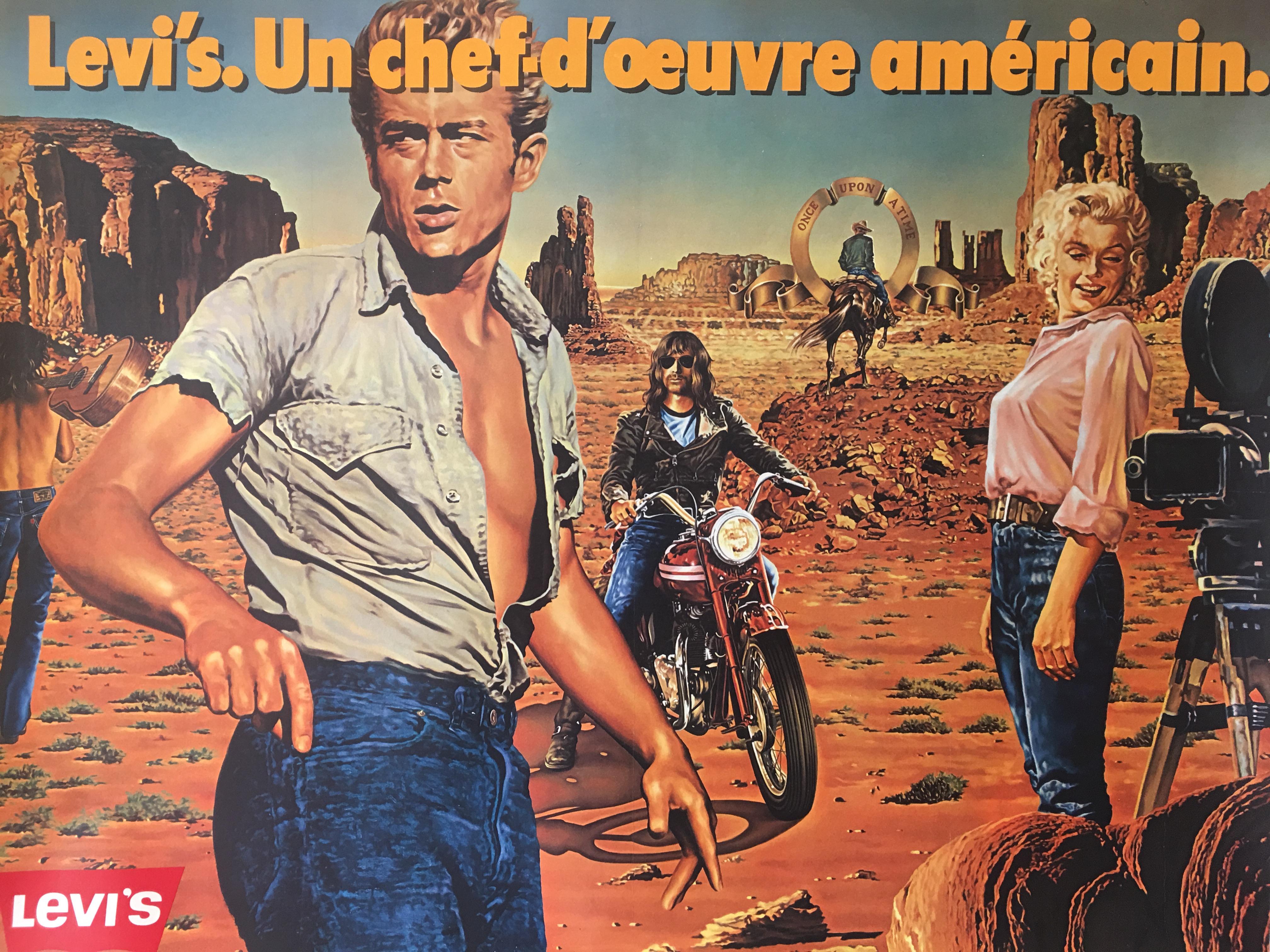 Levi's. Un chef d'oeuvre americain Original Vintage Poster