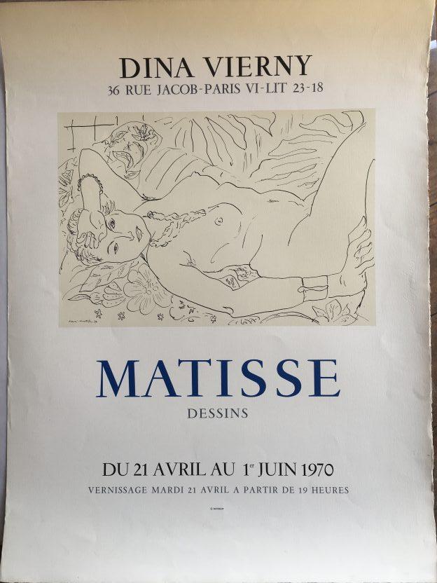 Original Vintage Poster Henri Matisse 36 Dina Vierny Letitia Morris Gallery