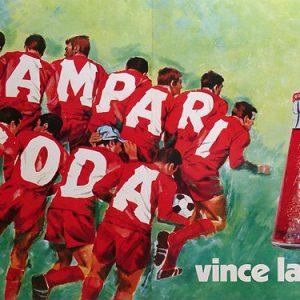 Campari Soda Soccer Vince la sete Original Vintage Poster