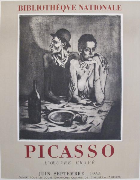 Picasso l'œuvre gravé 1955 Origina Vintage Poster