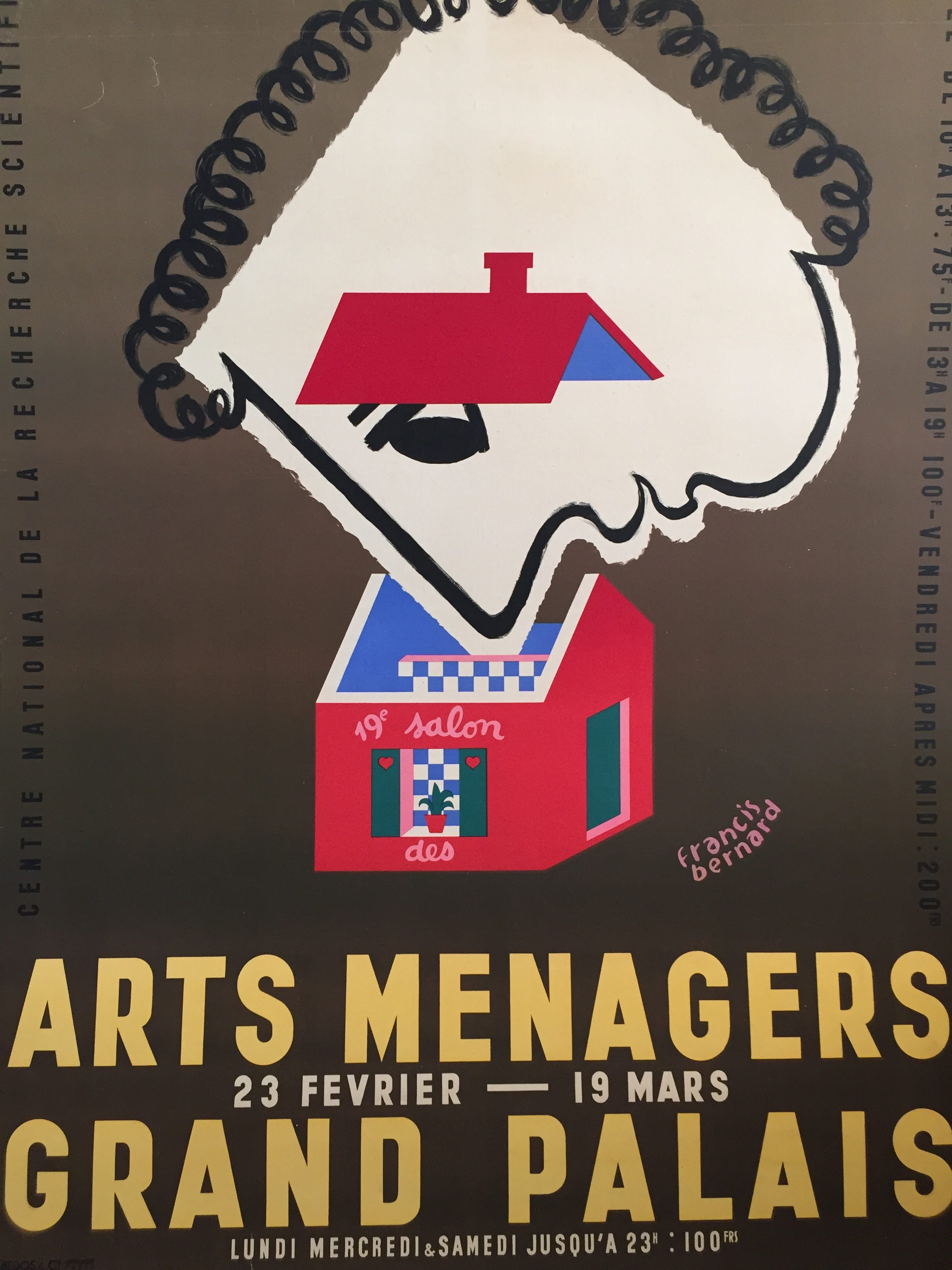 Arts Menagers Grand Palais Original Vintage Poster