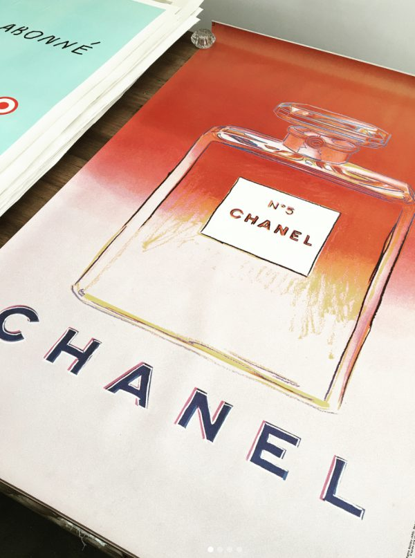 Original Vintage Poster Chanel Andy Warhol PINK
