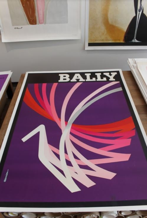 Bally kinetics purple original vintage poster