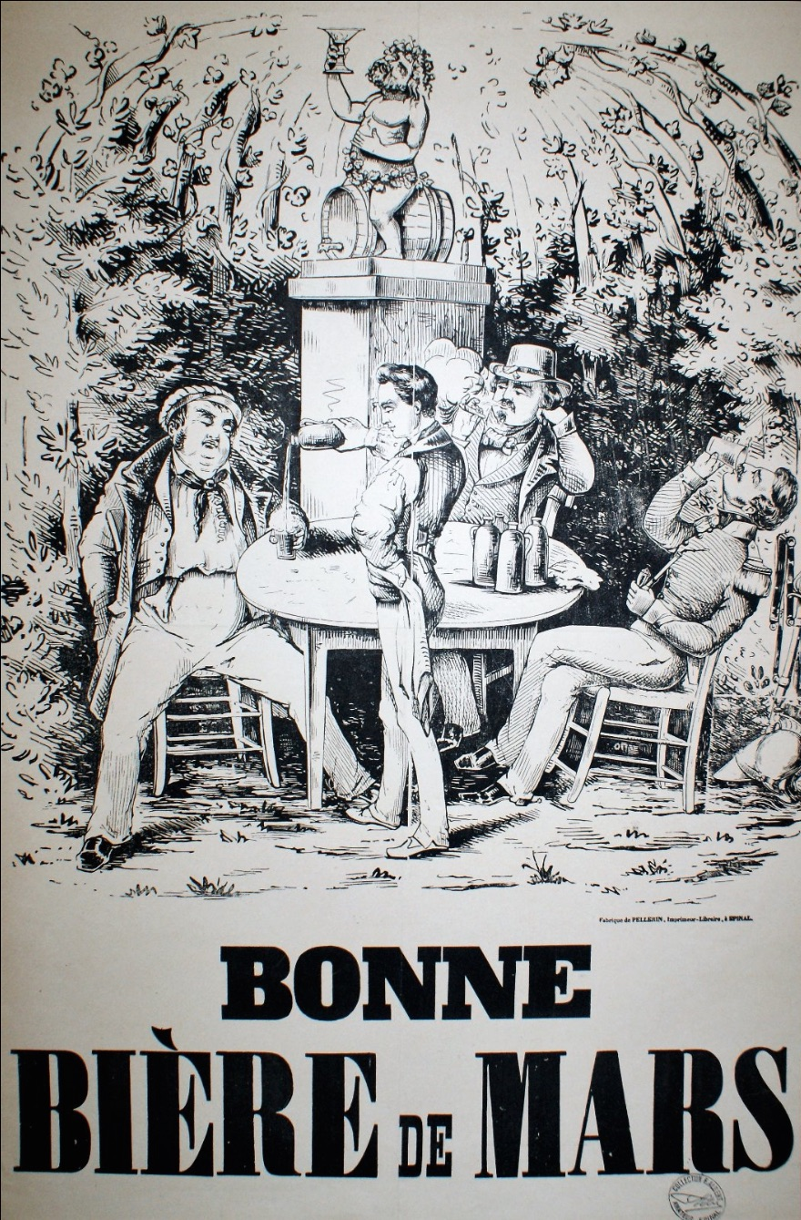 Bonne Biere de Mars Original Vintage poster for beer