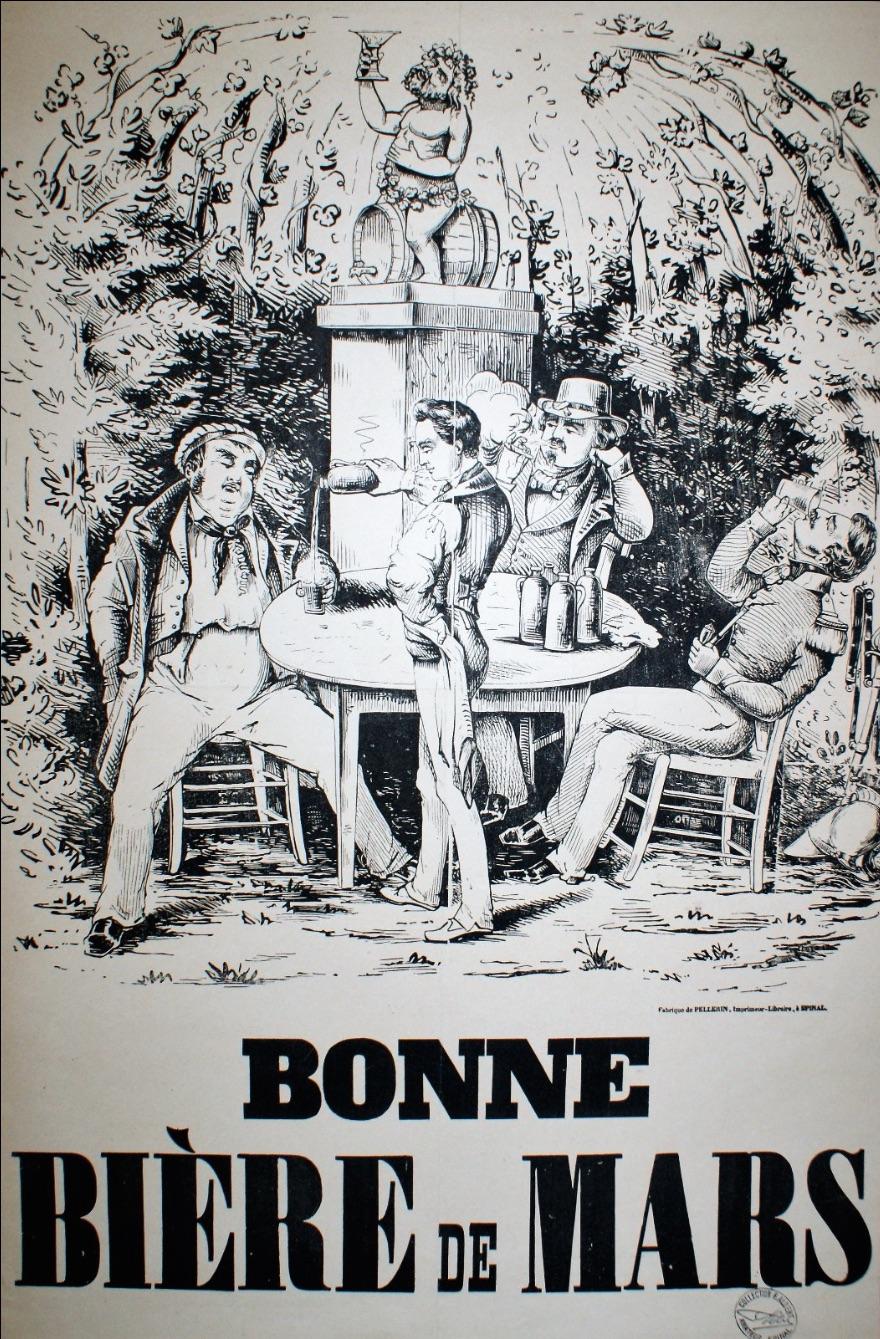 Bonne Biere de Mars Original Vintage poster for beer