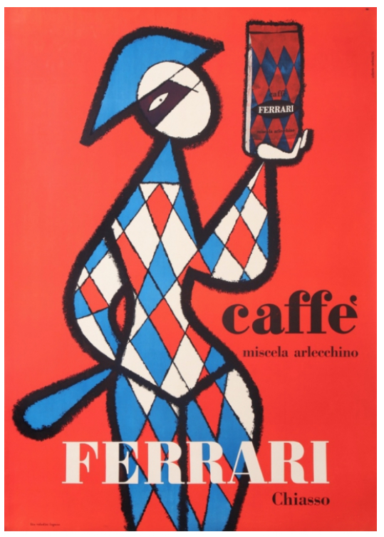 Caffe Ferrari Miscela Arlecchino Original Vintage Poster