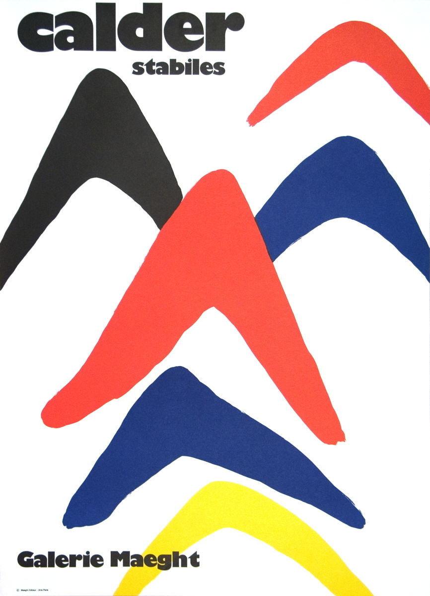 Calder Stabiles Galerie Maeght ORIGINAL VINTAGE POSTER