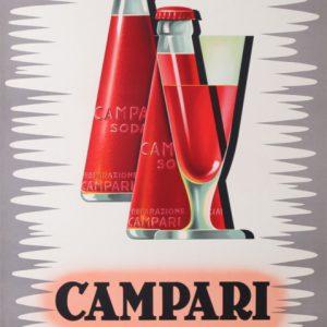 Campari soda mingozzi giovanni original vintage poster