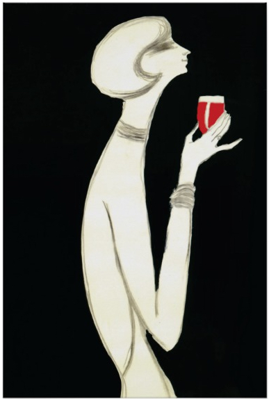 Campari Rouge by Villemot Original Vintage Poster