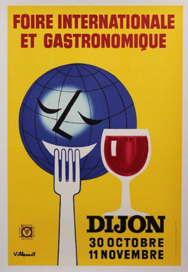 Dijon Gastronomique Villemot Original Vintage Poster