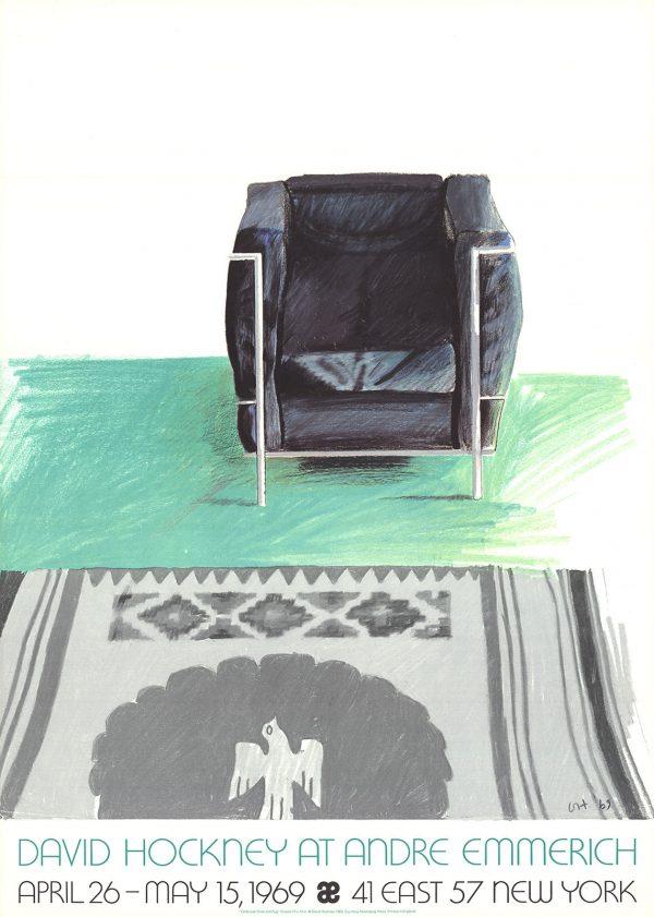 David Hockney At Andre Emmerich ORIGINAL VINTAGE POSTER