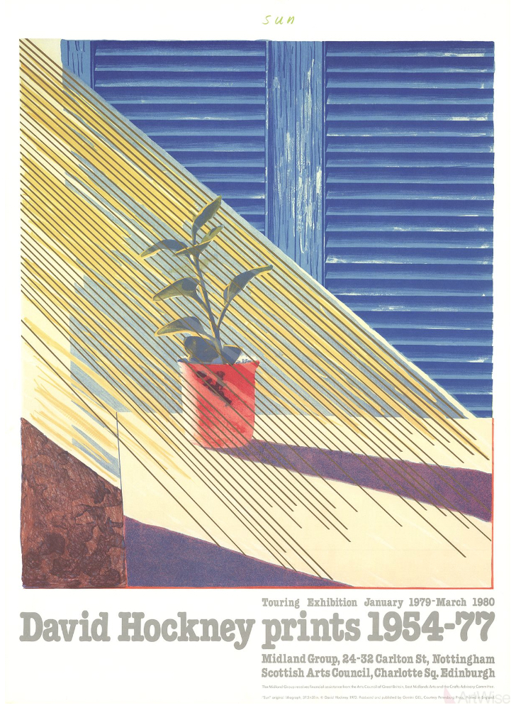 Sun from the Weather Series by David Hockney Original Vintage Poster
