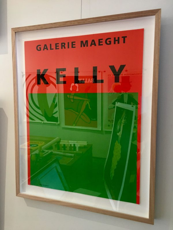 Ellsworth Kelly Orange et vert Original Vintage Poster
