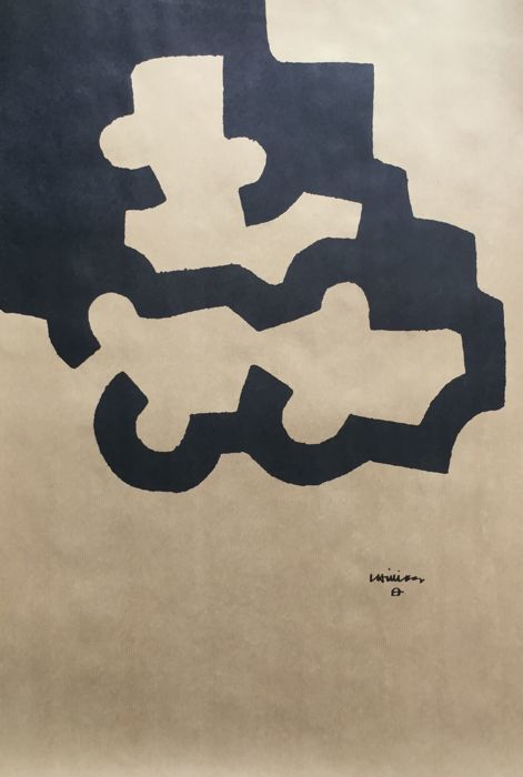 Eduardo Chillida - Composición - 1980 Original Vintage Poster 2