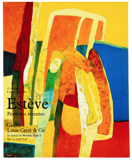 Esteve Galerie Louis Carré & Cie Original Vintage Poster