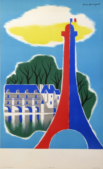 FRANCE PARIS Guy Georget Original Vintage Poster