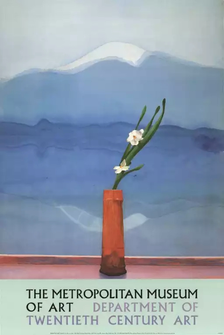 David Hockney Mount Fuji with Flowers