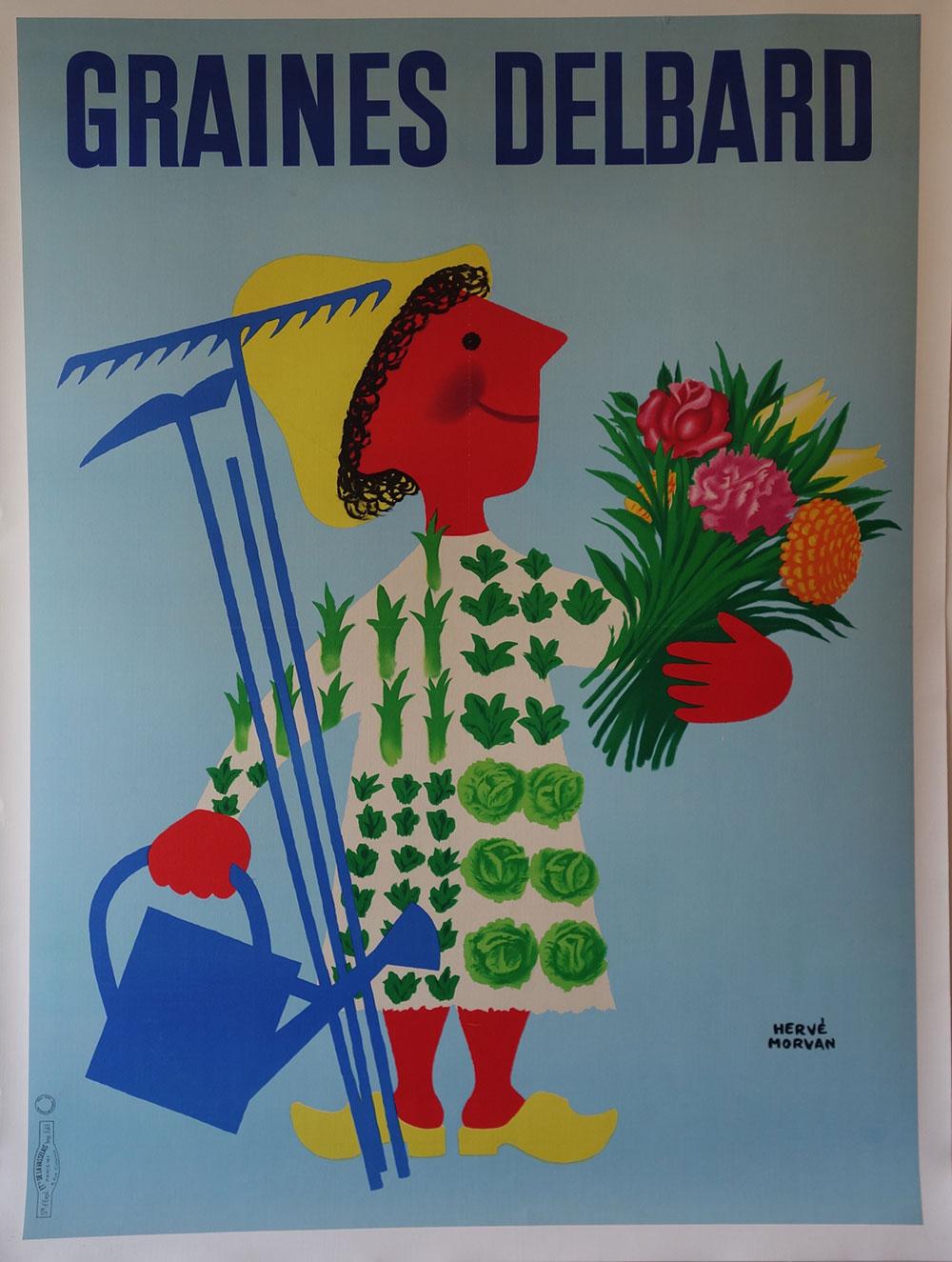 Graines Delbard Herve Morvan Vintage Edition Poster