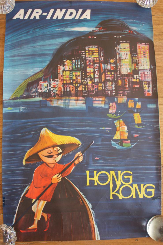 Original Vintage Poster Air Hong Kong