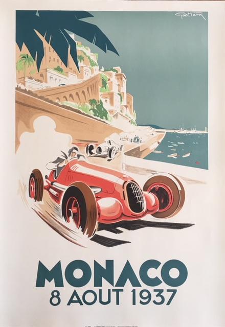 Monaco Grand Prix Formula 1 Original Vintage Poster