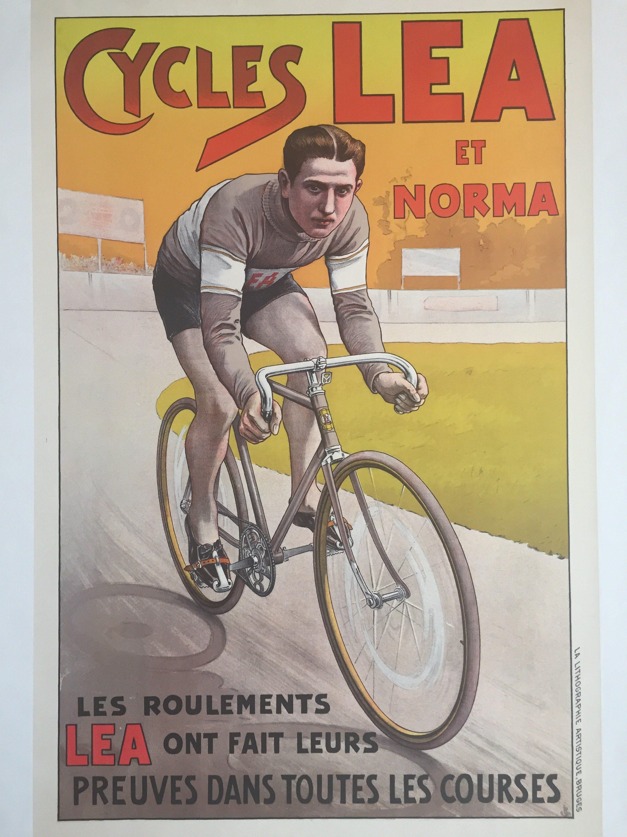 cycles lea origina vintage poster