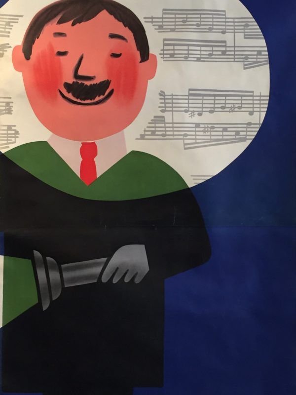 Savignac Music Man Original Vintage Poster