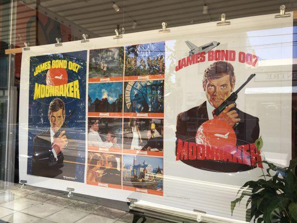 Original Vintage Poster for Moonraker James Bond Film with Roger Moore