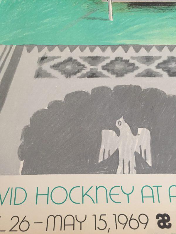David HockneyOriginal exhibition poster designed and created by David Hockney for an exhibition of his works held at Andre Emmerich in New York in 1969