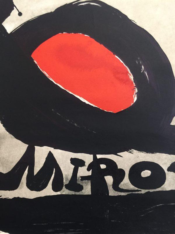 Galerie Maeght l'oiseau Solaire Miro Original Vintage Poster