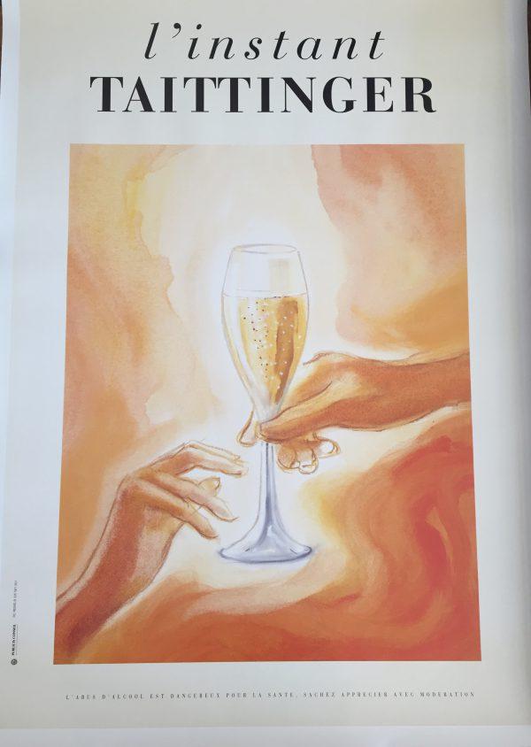 L'Instant Taittinger Champagne ORIGINAL VINTAGE POSTER