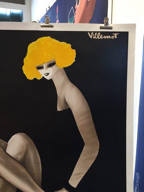 Bally Blonde Villemot ORIGINAL VINTAGE POSTER