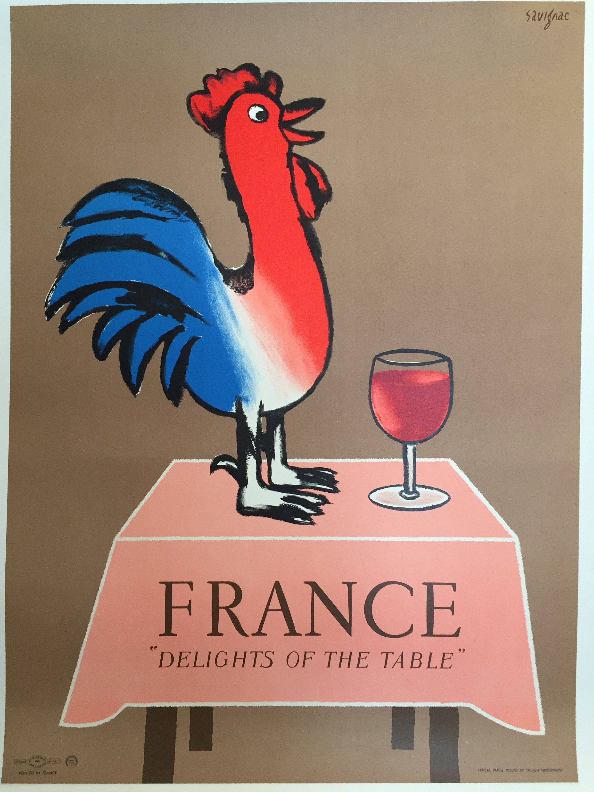 Savignac Delights of France original vintage poster