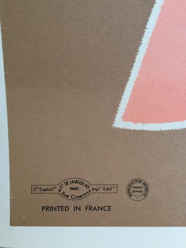 Savignac Delights of France original vintage poster