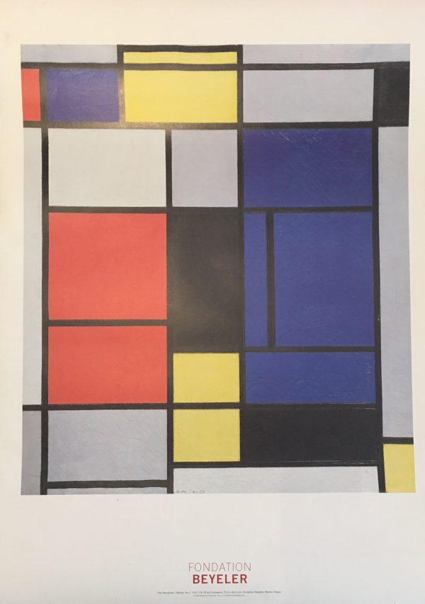 Piet Mondrian Fondation Beyeler Original Vintage Poster