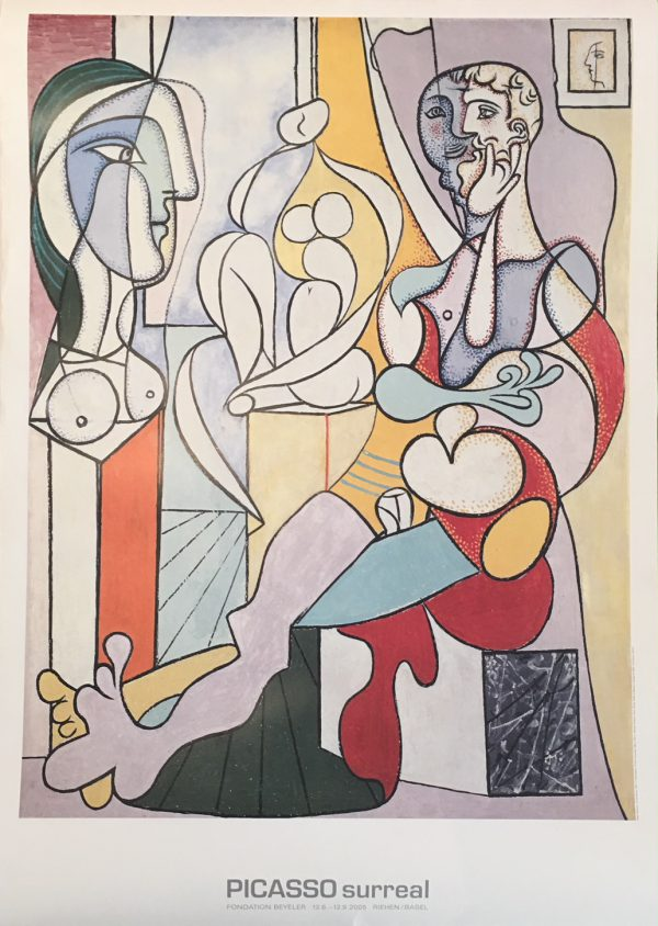 Picasso Surreal Fondation Beyeler Original Vintage Poster