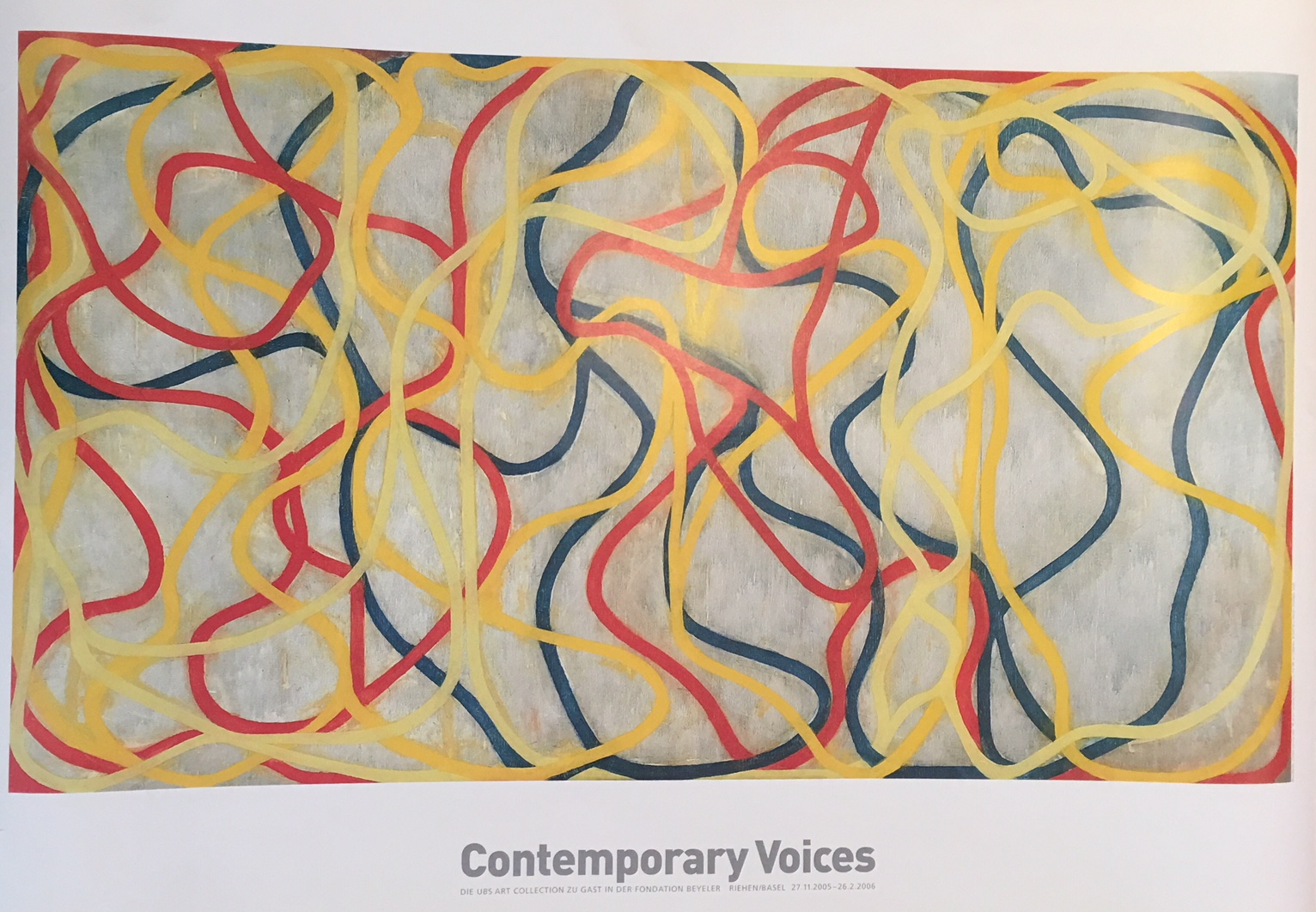 Contemporary Voices Fondation Beyeler Original Vintage Poster