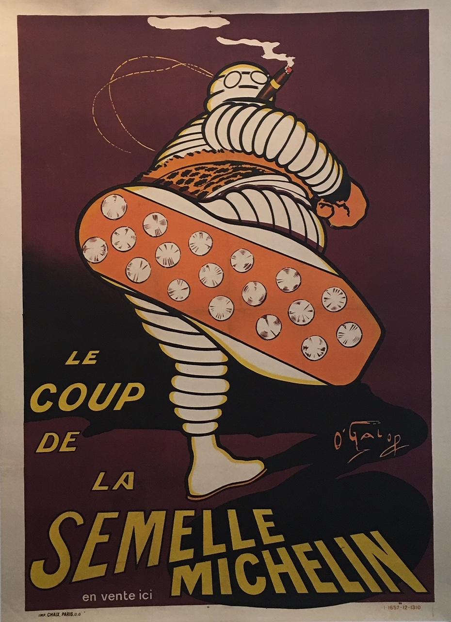 Le Coup De La Semelle Michelin Original Vintage Poster