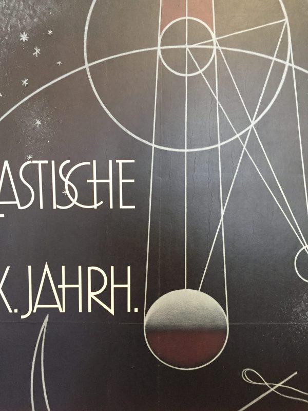 Kunsthalle Basel 'Phantastische Kunst Des' Original Vintage Poster