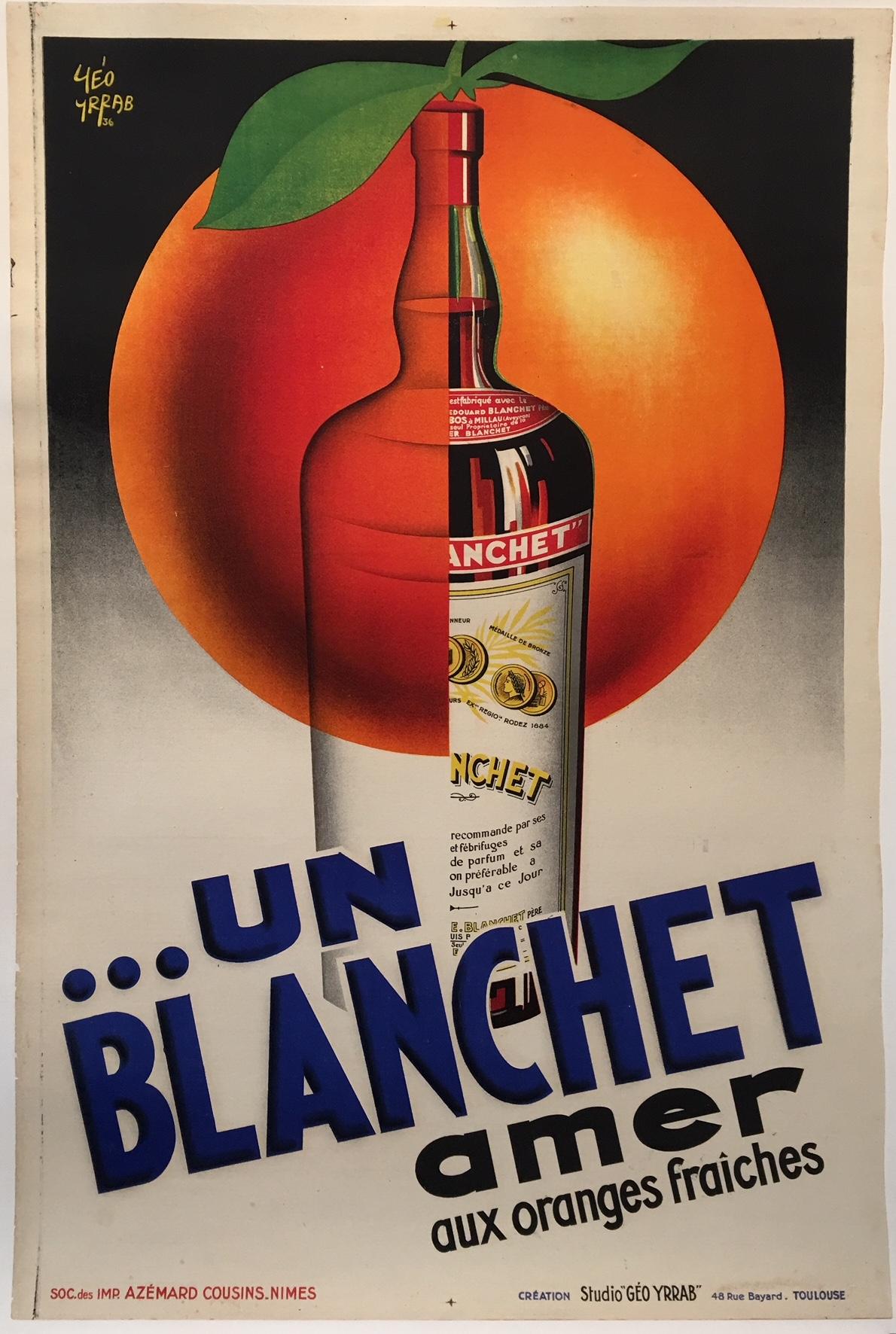 Un Blanchet Amer by Yeo Yrrab Original Vintage Poster