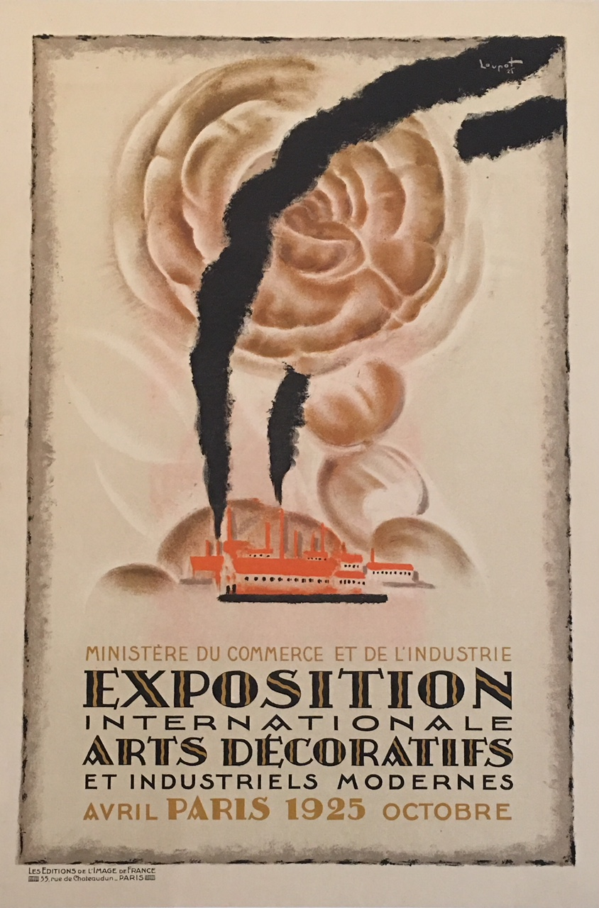 Exposition International Paris 1925 Original Vintage Poster