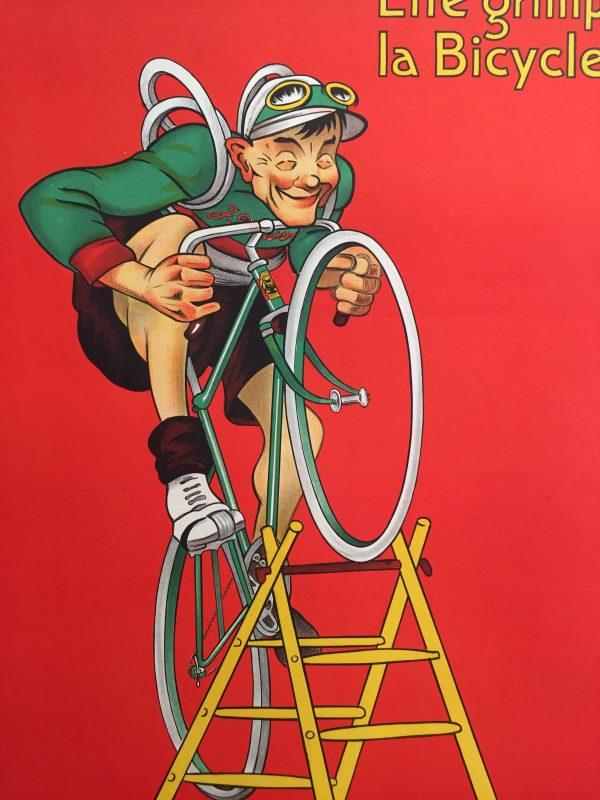 J B Louvet Original Vintage Cycling Poster by Mich