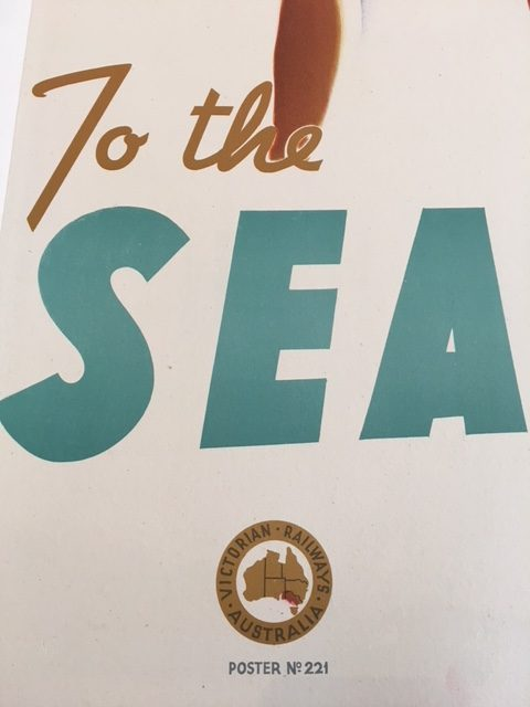 Take A Kodak To The Sea By Train Original Vintage Poster