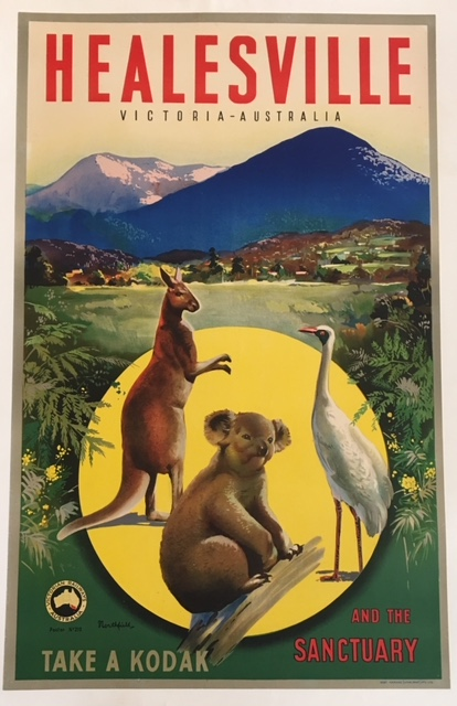 Healesville and the Sanctury Original Vintage Poster