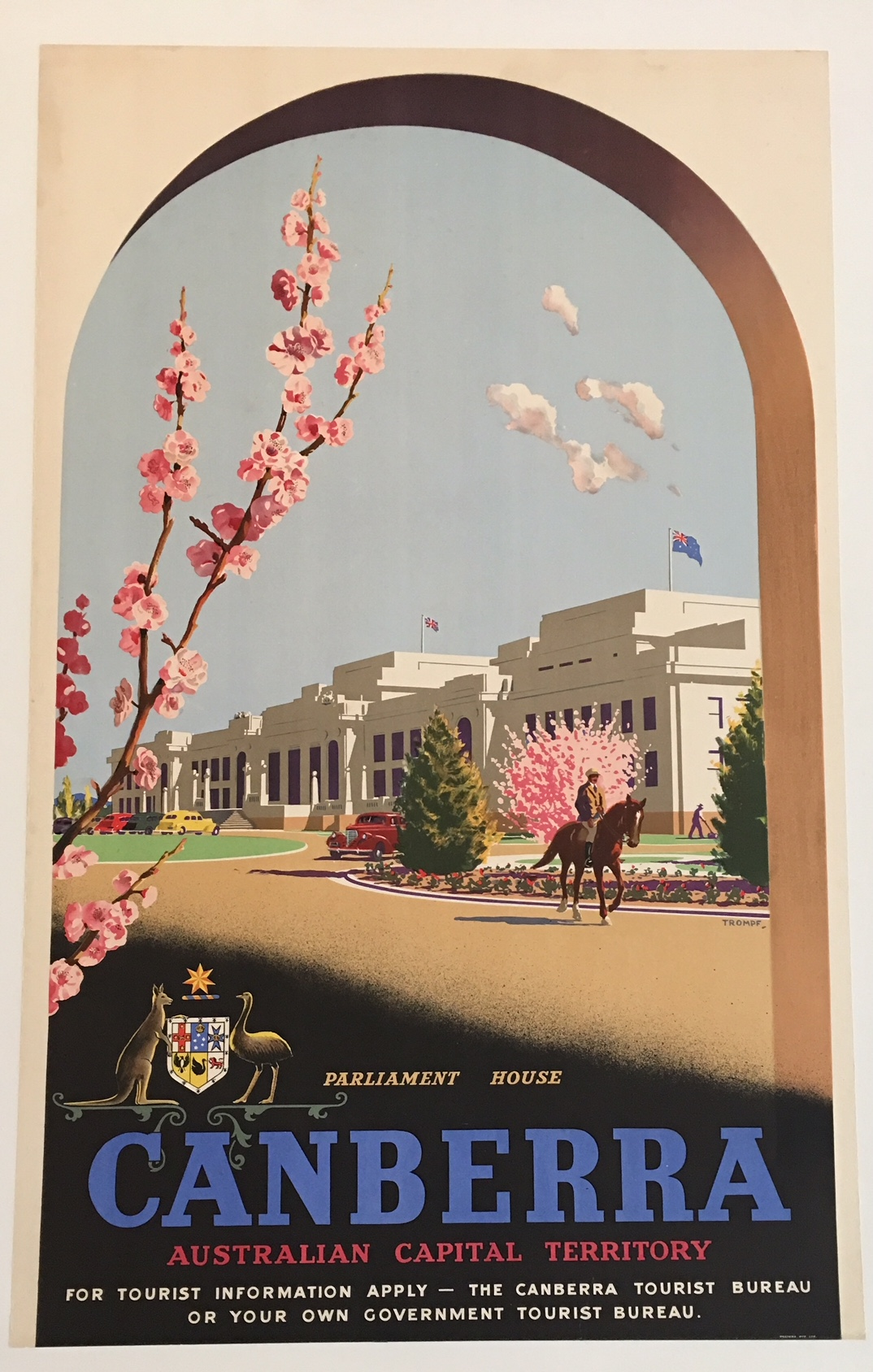Canberra Australian Capital Territory Original Vintage Poster