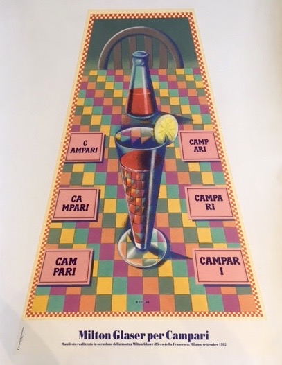 Milton Glaser Campari 1992 Original Vintage Poster