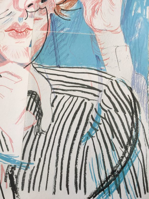David Hockney Paris Vogue Original Vintage Poster